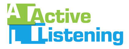 Active Listening Green Blue Abstract Stripes Royalty Free Stock Photo