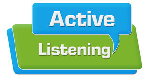 Active Listening Green Blue Comment Symbol Royalty Free Stock Image