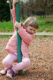 Active little child playing Royalty Free Stock Photos