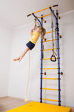 Active little girl doing sport exercises Royalty Free Stock Photos