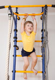 Active little girl doing sport exercises Royalty Free Stock Images