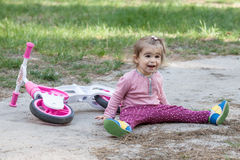 Active little girl having fun Stock Images