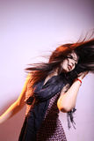 Active long hair. Female in action Royalty Free Stock Photos