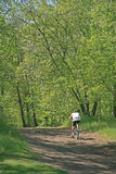 Active Man on Bike royalty free stock photo