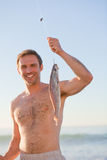Active man fishing Royalty Free Stock Photo