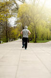 Active man jogger run in park. Stock Image