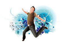 Active man jumping Royalty Free Stock Photography