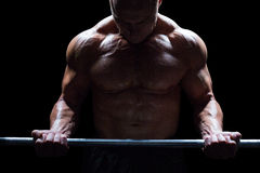 Active man lifting crossfit Stock Photography