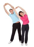 Active mature couple doing fitness Stock Images