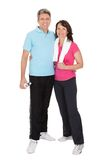 Active mature couple doing fitness Royalty Free Stock Photos