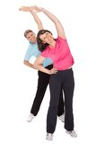 Active mature couple doing fitness Royalty Free Stock Image