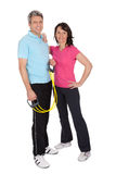 Active mature couple doing fitness Stock Image