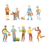 Active And Modern Old People Royalty Free Stock Photography
