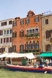Active movement on a canal in sunny spring day,Venice, Italy Royalty Free Stock Photography