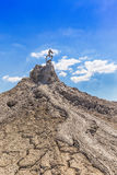 Active mud volcanoes Royalty Free Stock Photos