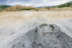 Active muddy volcanoes national reservation. View with erupting Stock Images