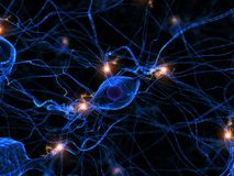 Active nerve cell Royalty Free Stock Photography
