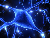 Active nerve cells Stock Photo