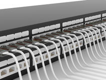 Active network equipment. Router. Stock Image