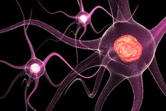 Active Neurone. Digital illustration of Active Neurone Royalty Free Stock Images