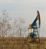 Active oil and gas rig Stock Photography