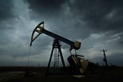 Active oil and gas well Stock Images
