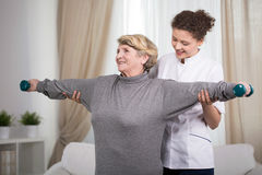 Active older lady Stock Photos