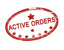 Active orders. Rubber stamp with text active orders inside,  illustration Royalty Free Stock Images