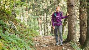 Active Outdoor - Woman on a Trail Stock Image