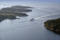 Active Pass, Gulf Islands Royalty Free Stock Photo