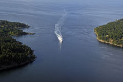 Active Pass, Gulf Islands Royalty Free Stock Image