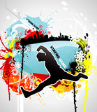 Active people. And city illustration Royalty Free Stock Photos