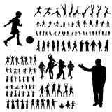 Active people. Silhouette set, vector illustration royalty free illustration