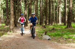 Active people biking Royalty Free Stock Images