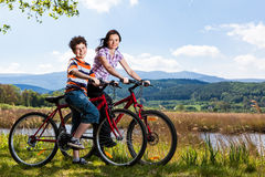 Active people biking Stock Image