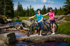 Active people biking Stock Photo
