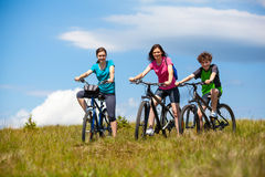 Family biking Royalty Free Stock Images
