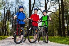 Family biking Royalty Free Stock Photography