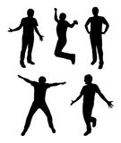 Active people silhouette  Royalty Free Stock Image
