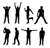 Active people silhouette  Stock Photos