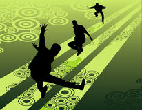 Active people vector Royalty Free Stock Images
