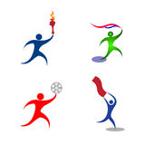 Active people. Vector drawing isolated in white background vector illustration