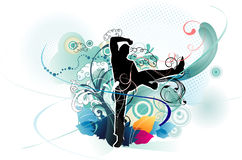 Active people vector illustration Royalty Free Stock Photos