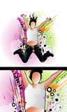 Active people vector illustration Stock Images