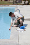Active Pool  Chemical Testing Royalty Free Stock Photography