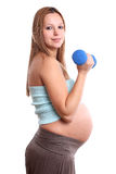Active pregnant woman Stock Photography