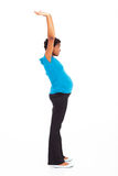 Active pregnant woman Stock Image