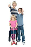 Active pretty mother with her kids royalty free stock photo