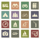 Active recreation icon set Stock Photography