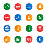 Active recreation icon set Royalty Free Stock Images